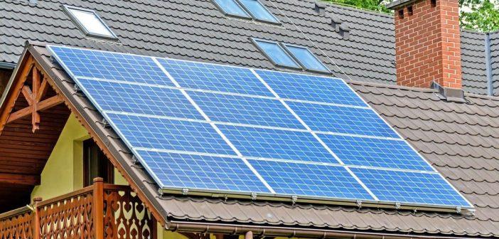 Des panneaux solaires